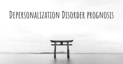 Depersonalization Disorder prognosis
