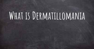 What is Dermatillomania