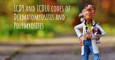 ICD9 and ICD10 codes of Dermatomyositis and Polymyositis