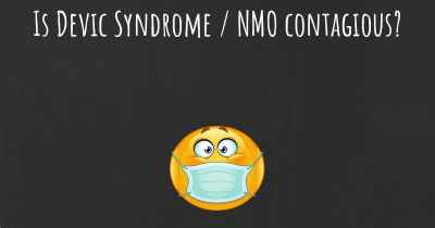 Is Devic Syndrome / NMO contagious?