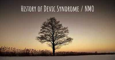 History of Devic Syndrome / NMO