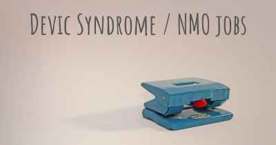 Devic Syndrome / NMO jobs
