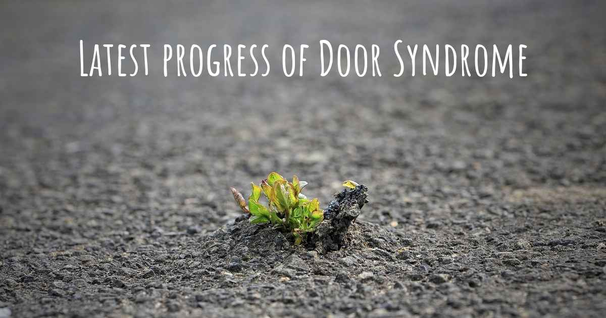 & What are the latest advances in Door Syndrome? pezcame.com