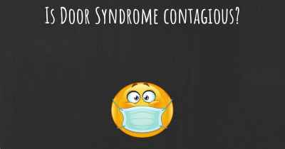 Is Door Syndrome contagious?