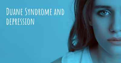 Duane Syndrome and depression