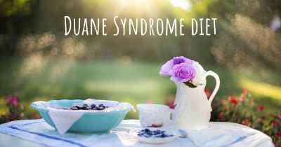 Duane Syndrome diet