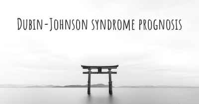 Dubin-Johnson syndrome prognosis