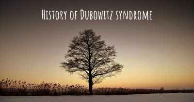 History of Dubowitz syndrome