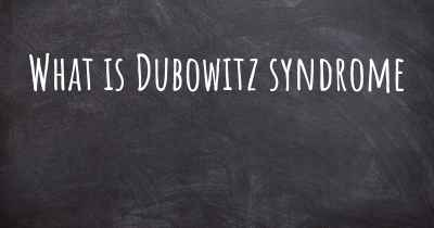What is Dubowitz syndrome