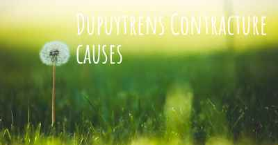 Dupuytrens Contracture causes