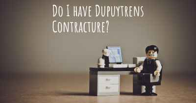 Do I have Dupuytrens Contracture?