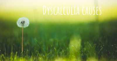 Dyscalculia causes