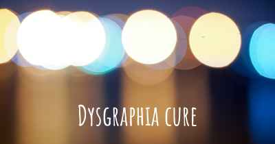 Dysgraphia cure