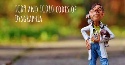 ICD9 and ICD10 codes of Dysgraphia