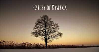 History of Dyslexia