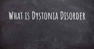 What is Dystonia Disorder