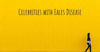 Celebrities with Eales Disease