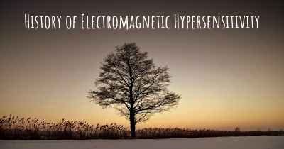 History of Electromagnetic Hypersensitivity