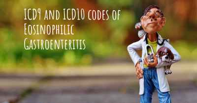 ICD9 and ICD10 codes of Eosinophilic Gastroenteritis