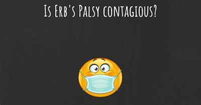 Is Erb's Palsy contagious?