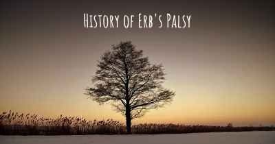 History of Erb's Palsy
