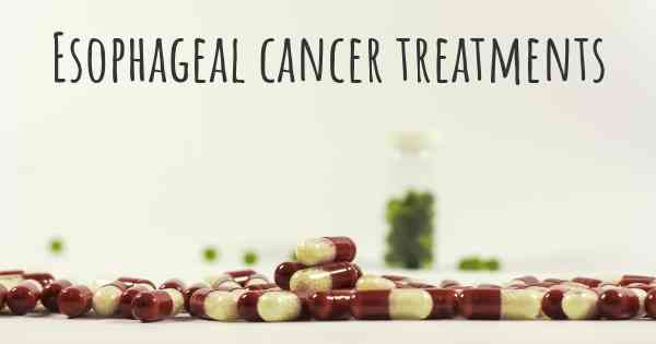 What are the best treatments for esophageal cancer forumfinder Choice Image