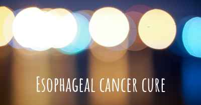 Esophageal cancer cure