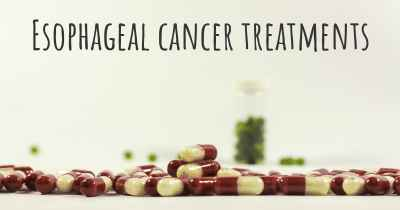Esophageal cancer treatments