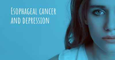 Esophageal cancer and depression