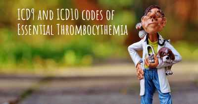 ICD9 and ICD10 codes of Essential Thrombocythemia