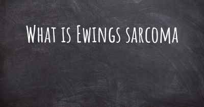 What is Ewings sarcoma