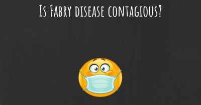 Is Fabry disease contagious?