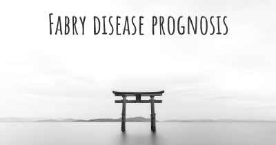 Fabry disease prognosis