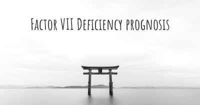 Factor VII Deficiency prognosis