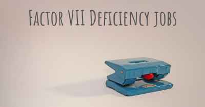 Factor VII Deficiency jobs
