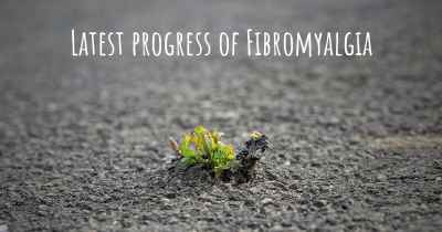 Latest progress of Fibromyalgia
