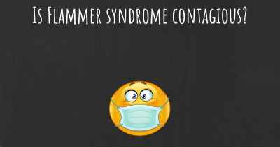 Is Flammer syndrome contagious?