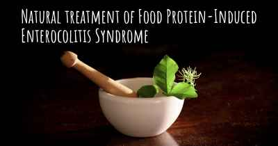 Natural treatment of Food Protein-Induced Enterocolitis Syndrome