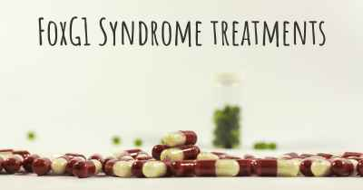 FoxG1 Syndrome treatments