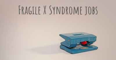 Fragile X Syndrome jobs