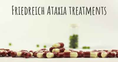 Friedreich Ataxia treatments