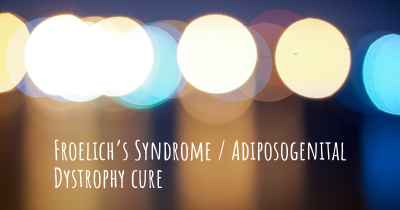 Froelich's Syndrome / Adiposogenital Dystrophy cure
