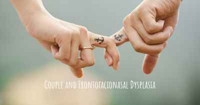 Couple and Frontofacionasal Dysplasia