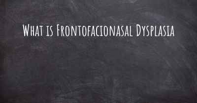 What is Frontofacionasal Dysplasia