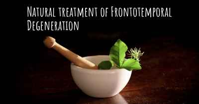 Natural treatment of Frontotemporal Degeneration
