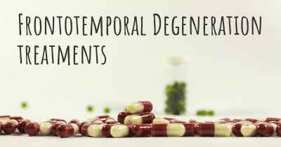 Frontotemporal Degeneration treatments