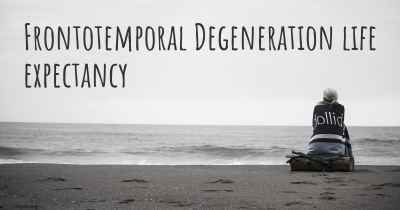Frontotemporal Degeneration life expectancy