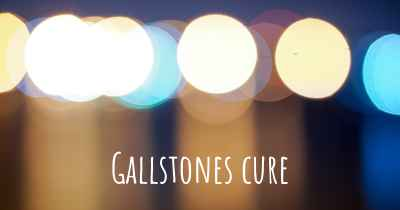 Gallstones cure