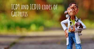 ICD9 and ICD10 codes of Gastritis