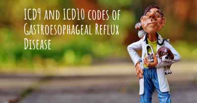 ICD9 and ICD10 codes of Gastroesophageal Reflux Disease